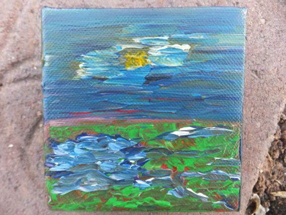 Barn Island Original Painting by 4HeartAndMind on Etsy