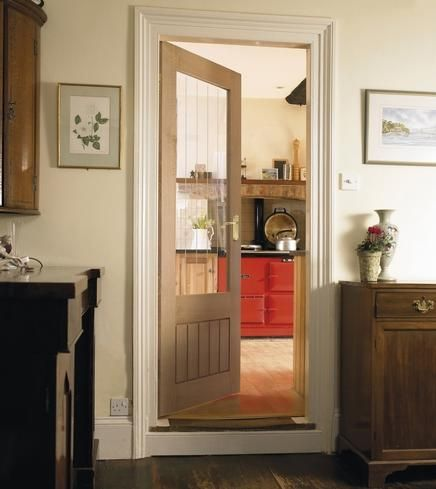 Dordogne Oak glazed door -howdens Hallway doors would match nicely with the upstairs but letu0027s more light into the hall & Dordogne Oak glazed door -howdens Hallway doors would match nicely ...
