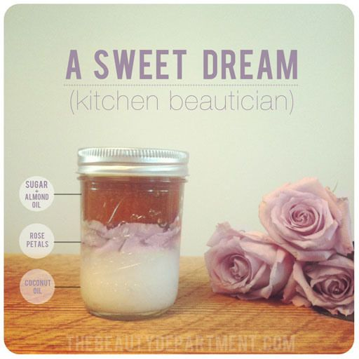 DIY Coconut and Rose Body Scrub  #beauty #spa #bath #diy #handmade #homemade