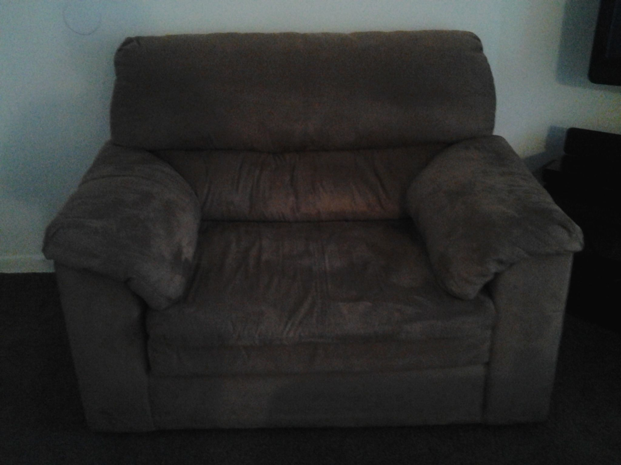 Microfiber couch oversized chair and ottoman in