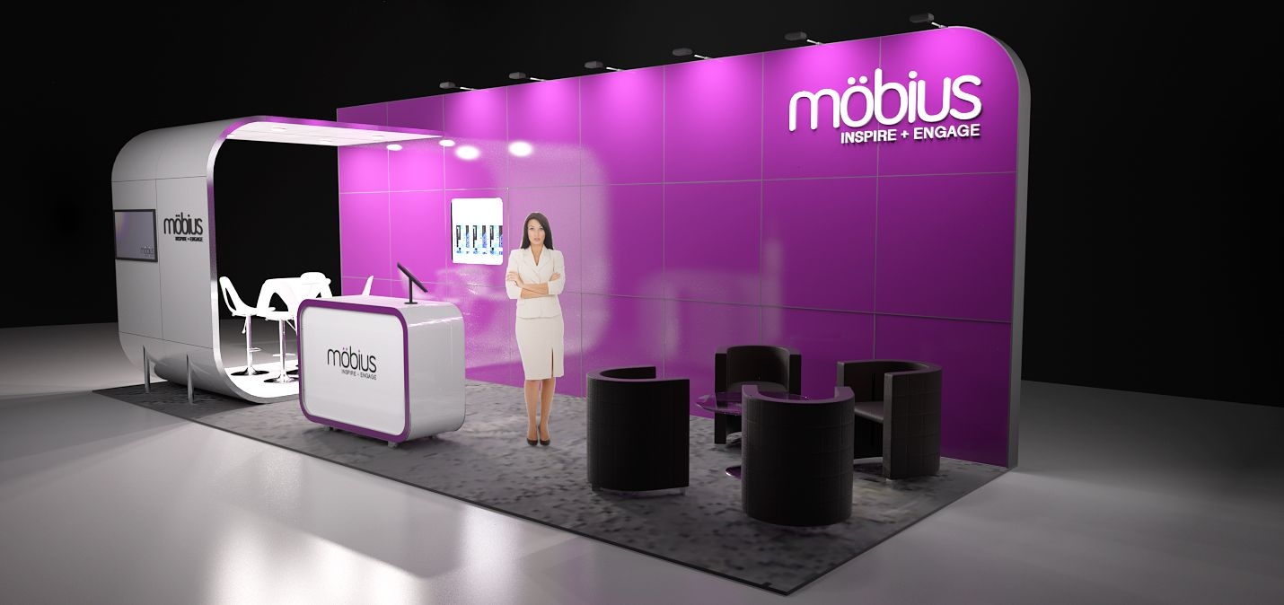 Exhibition Booth Price : Möbius m modular exhibition stand without the custom