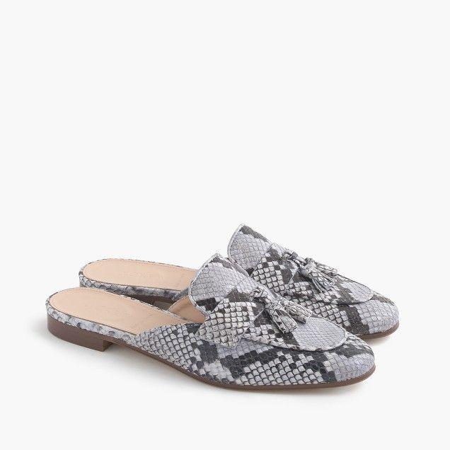 Shoes Sincere Leopard Snake Women Shoes Pointed Toe Slipper Mules Half Flat Slipper Ruffles Casual Shoes Women Flats Summer Sandals Women's Shoes