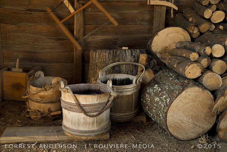 Wooden buckets, photo by Forrest Anderson. This and other photos by Forrest Anderson are available at rouviere.com.