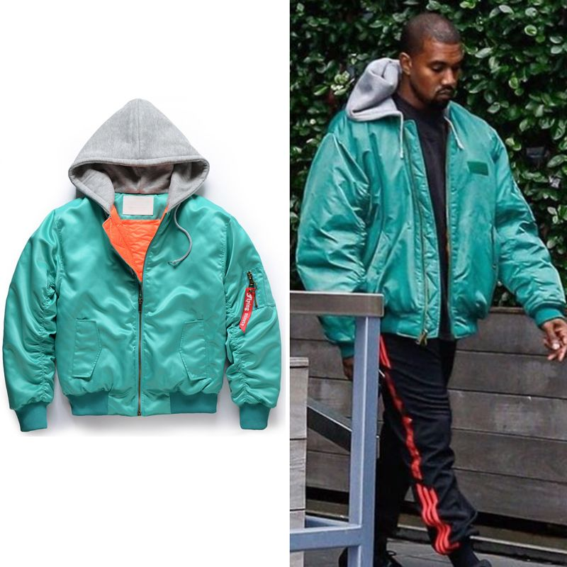 Click To Buy 017 New Kanye West Oversized Skateboard Ma 1 Men Jacket Hiphop Fashion Casual Splice Zipper Jackets C Jackets Hip Hop Fashion Casual Fashion