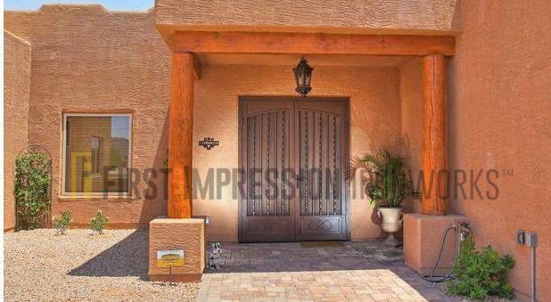 First Impression Ironworks Iron Front Door #arcadiadoor #frontdoor #irondoor #ornamentaliron #customiron & First Impression Ironworks Iron Front Door #arcadiadoor #frontdoor ...