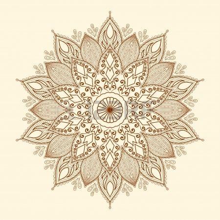Mandala Belle Dessin Es La Main Fleur De Dentelle Ethnique Motif