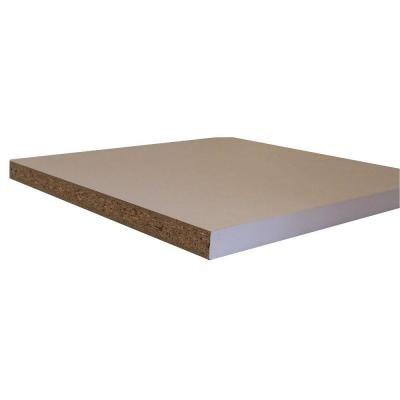 null Shelving White Melamine Board (Common: 3/4 in  x 11-3/4