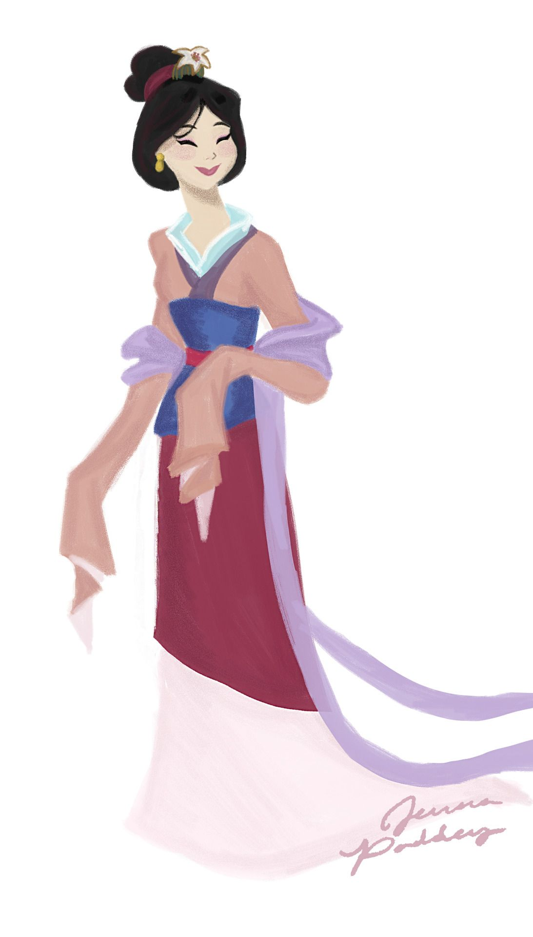 mulan pink dress pictures - 674×1184