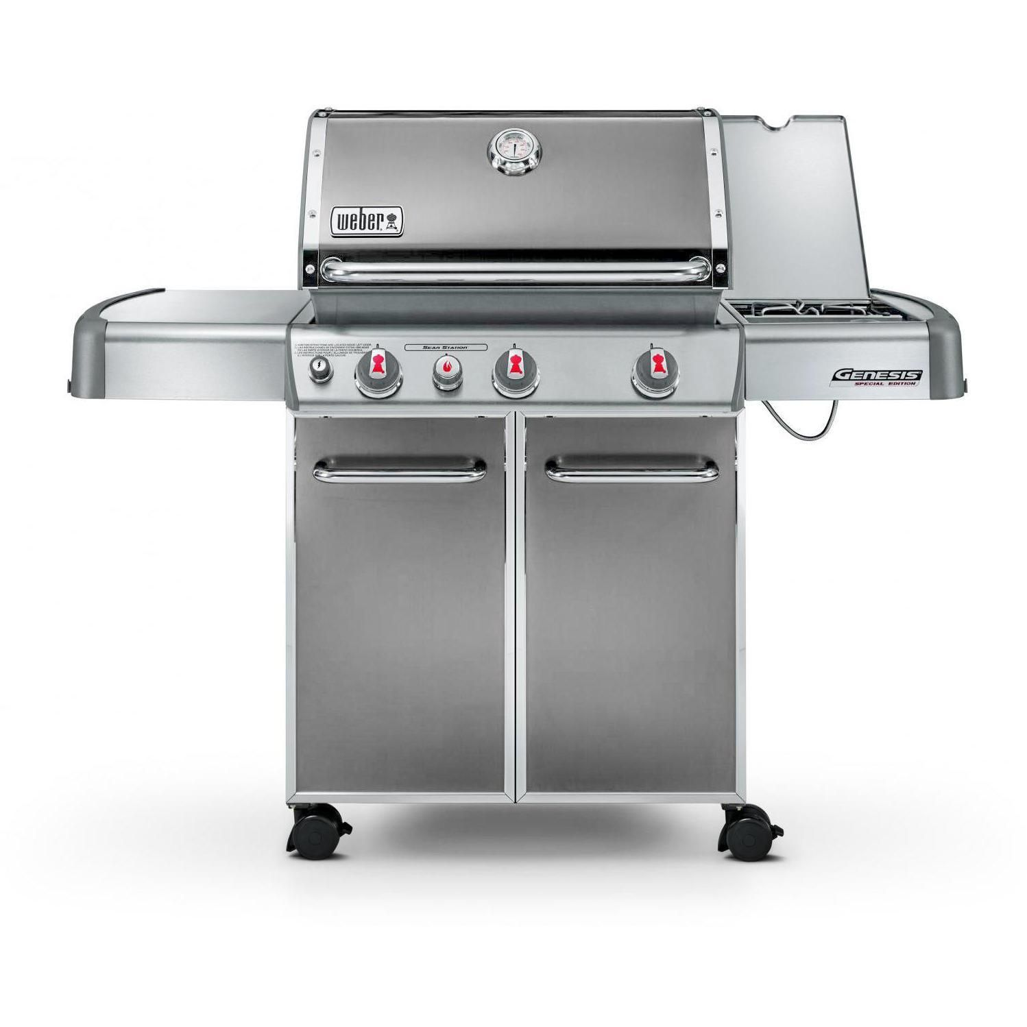 weber genesis ii se 410 special edition freestanding propane gas grill smoke propane gas. Black Bedroom Furniture Sets. Home Design Ideas