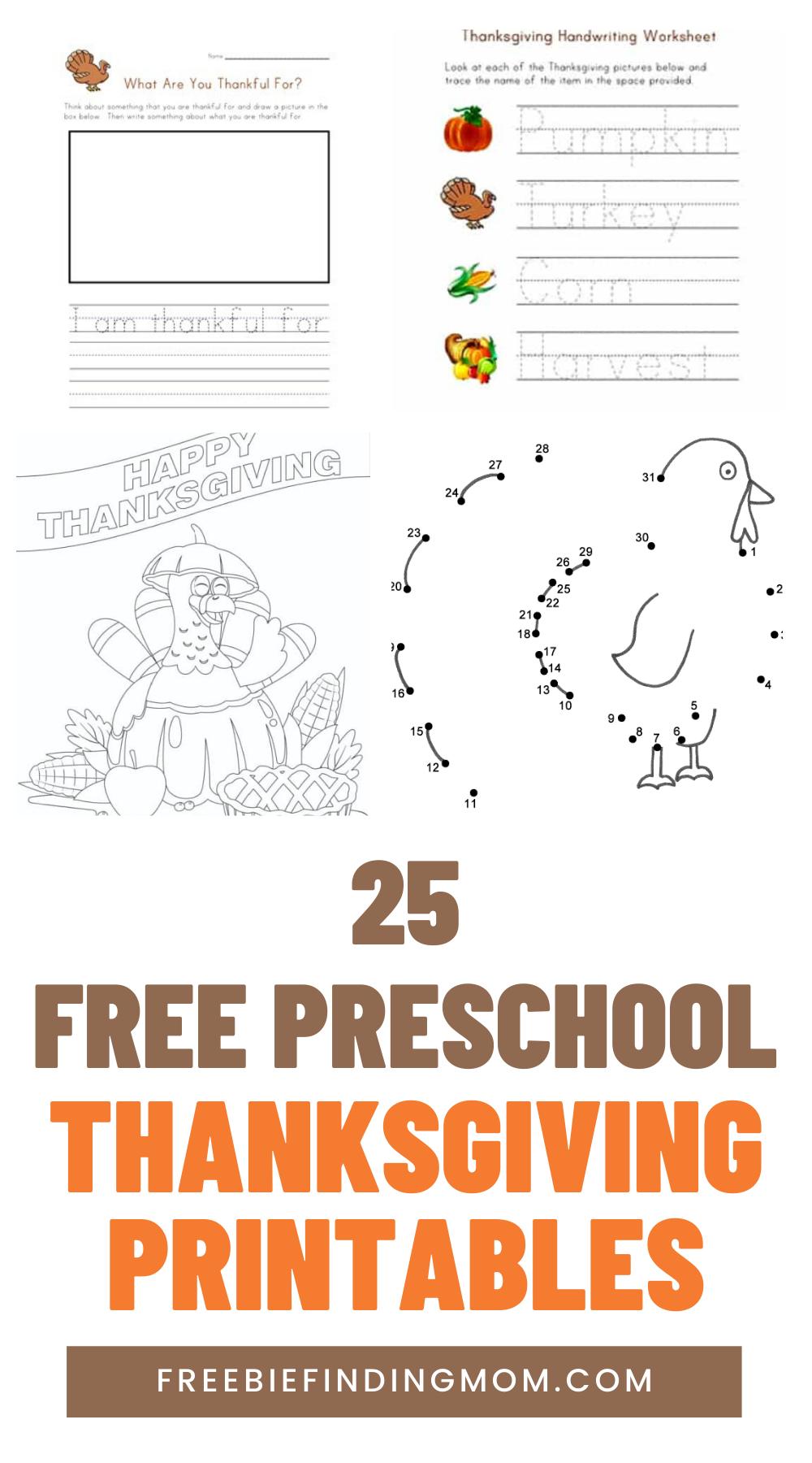 25 Free Preschool Thanksgiving Printables Freebie Finding Mom Thanksgiving Preschool Thanksgiving Printables Thanksgiving Activities Preschool [ 1800 x 1000 Pixel ]