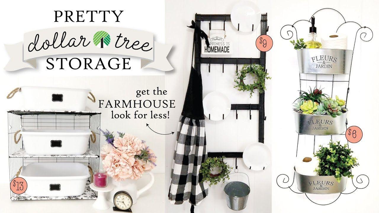 Dollar Tree Storage DIYs | 3 EASY S…