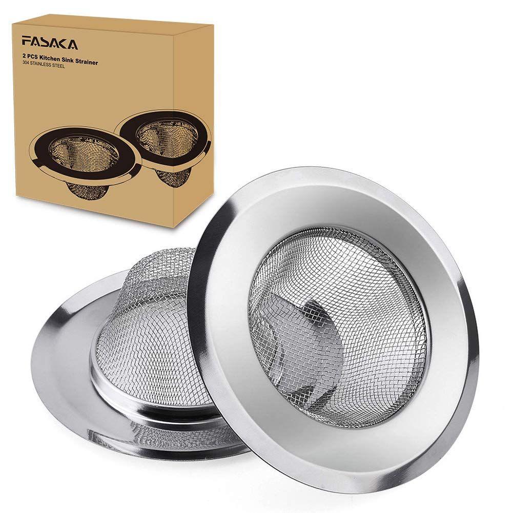 Fasaka Kitchen Sink Strainer 2 Piece Stainless Steel Sink Strainer 4 5 Diameter Perfect For Most S In 2020 Kitchen Sink Strainer Sink Strainer Bathtub Accessories