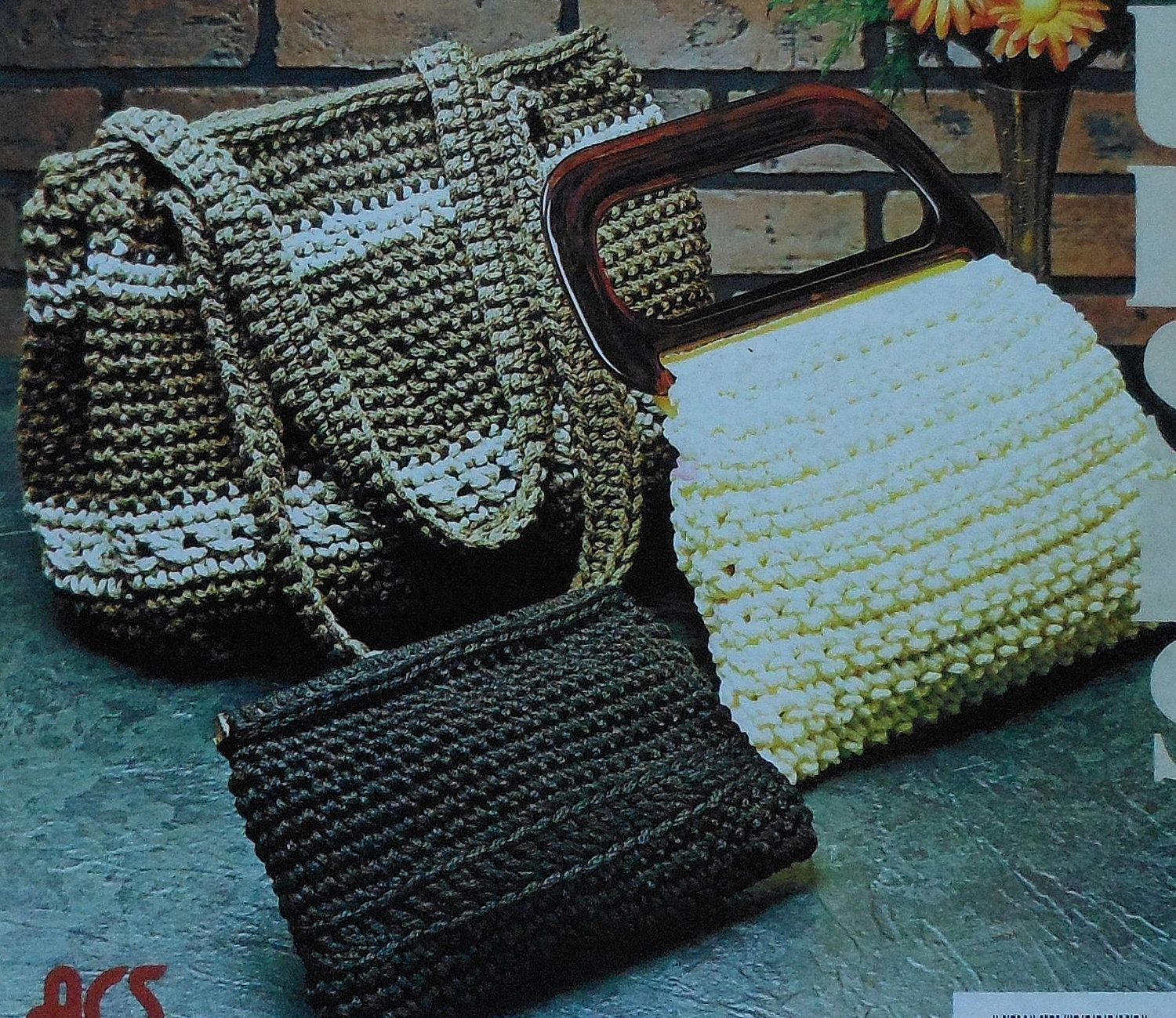 Vintage Crochet Purse Patterns Leaflet | Sewing Patterns | Pinterest ...