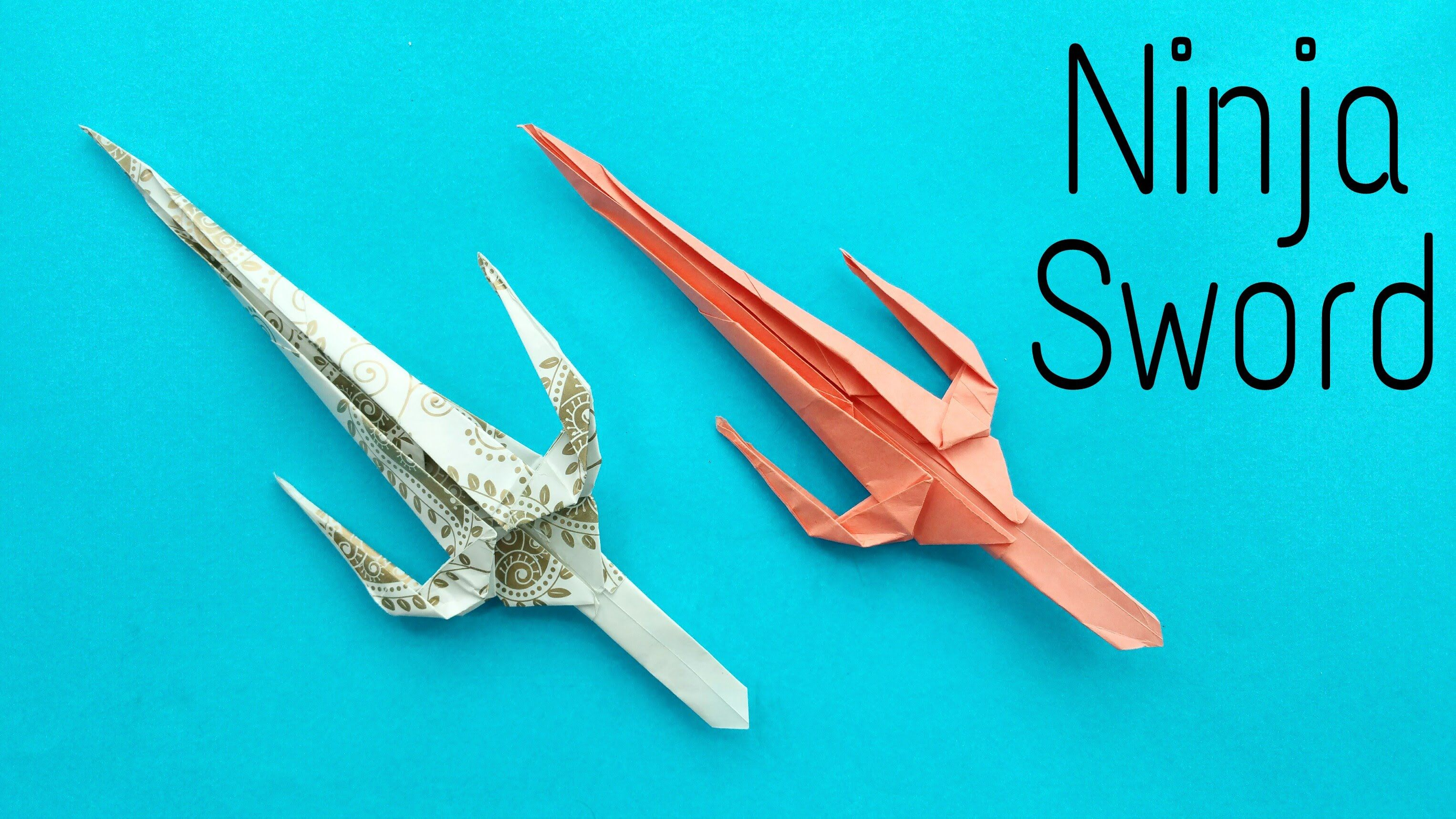 "How to make a Paper ""Ninja Sword"" - Weapon Origami ... - photo#6"