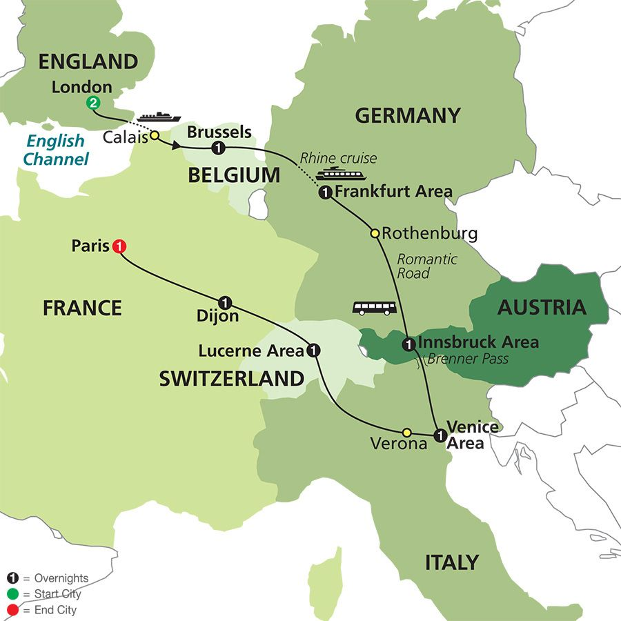 Multi City European Vacation Package Cosmos Tours Mike And - Europe vacation packages