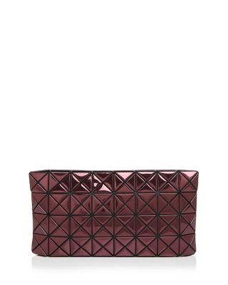 BAO BAO ISSEY MIYAKE Platinum Metallic Clutch. #baobaoisseymiyake #bags #polyester #clutch #metallic #shoulder bags #hand bags #nylon #