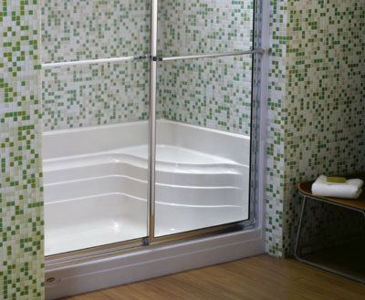 Jacuzzi N658 Shower Base Small Bathroom Bathtub Remodel