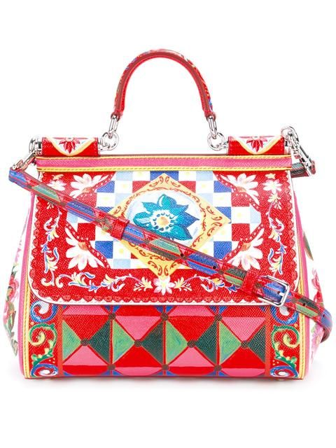 8a325ef5c860f DOLCE   GABBANA Sicily Mambo print tote.  dolcegabbana  bags  shoulder bags   hand bags  leather  tote