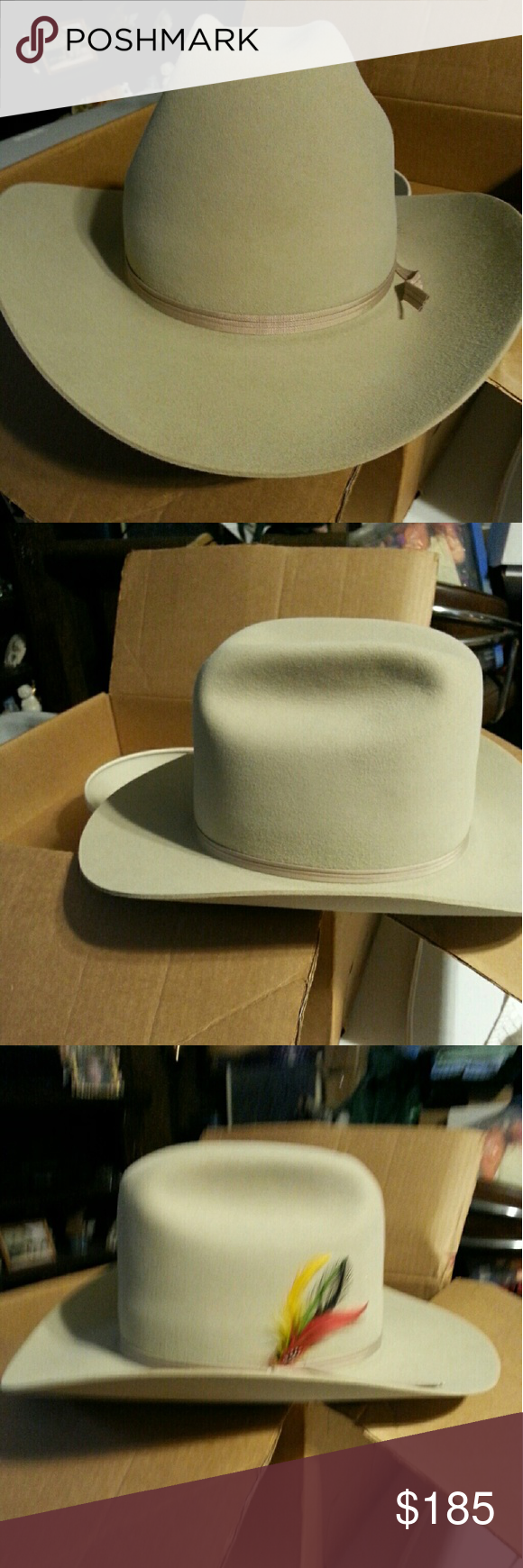 62e77a73769ef Vintage Stetson Cowboy Hat.. New.. Never worn. Mint condition. Size ...