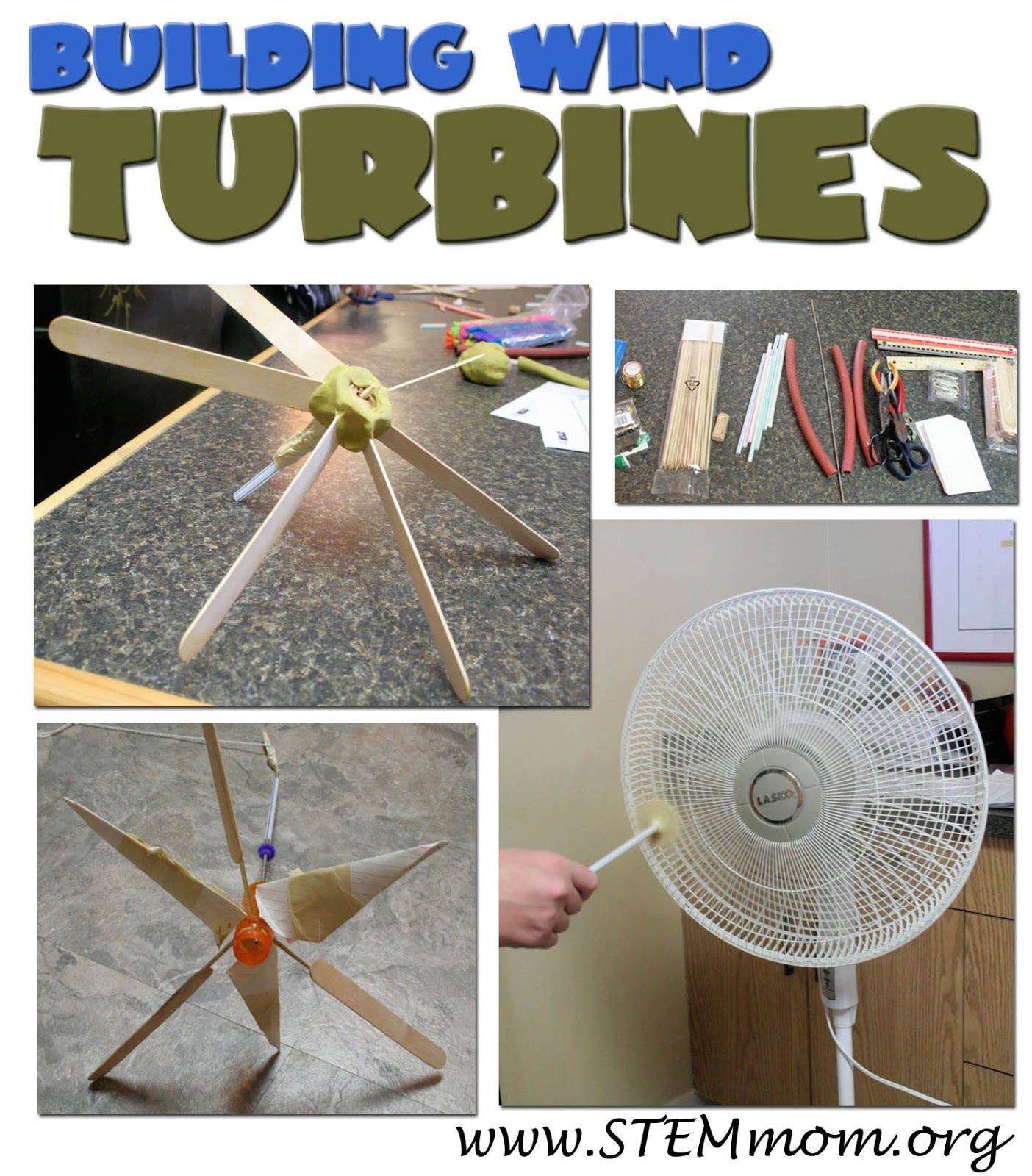 Building Turbines: Inquiry Engineering Lab: from STEMmom org