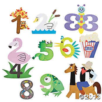 Number Crafts 1-10 | Preschool Math | Pinterest | Number ...