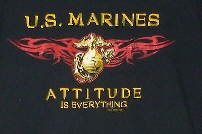 Men's Marines Attitude Is Everything Military Tshirt Size X Large