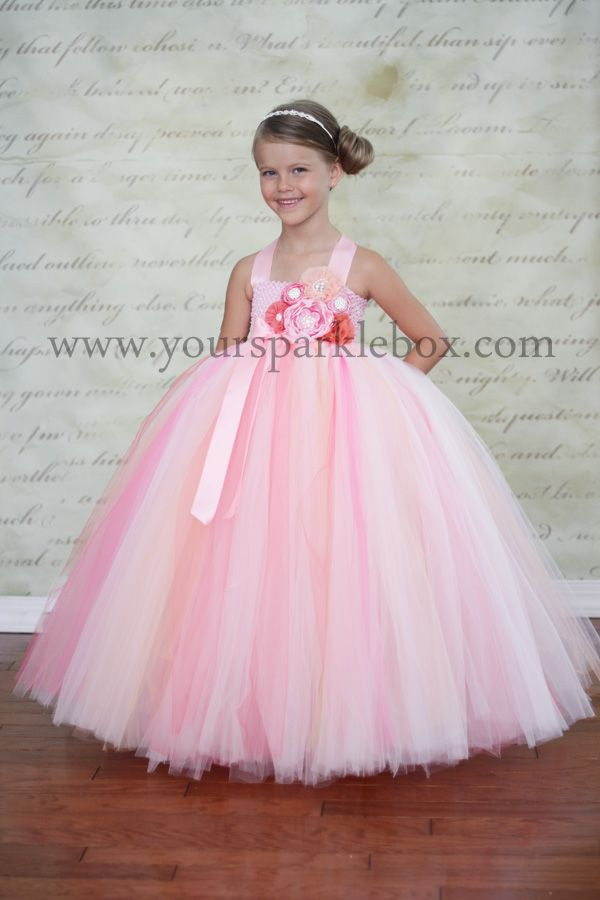 Pink, Peach and Coral Tutu Dress | Charlotte Modeling | Pinterest ...