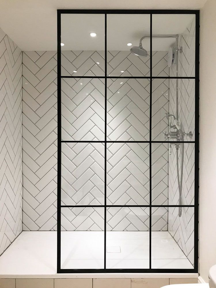 Amazing Crittall Shower Screen From Creative Glass Studio In London Bathroom Tile Inspiration Modern Bathroom Tile Bathroom Interior