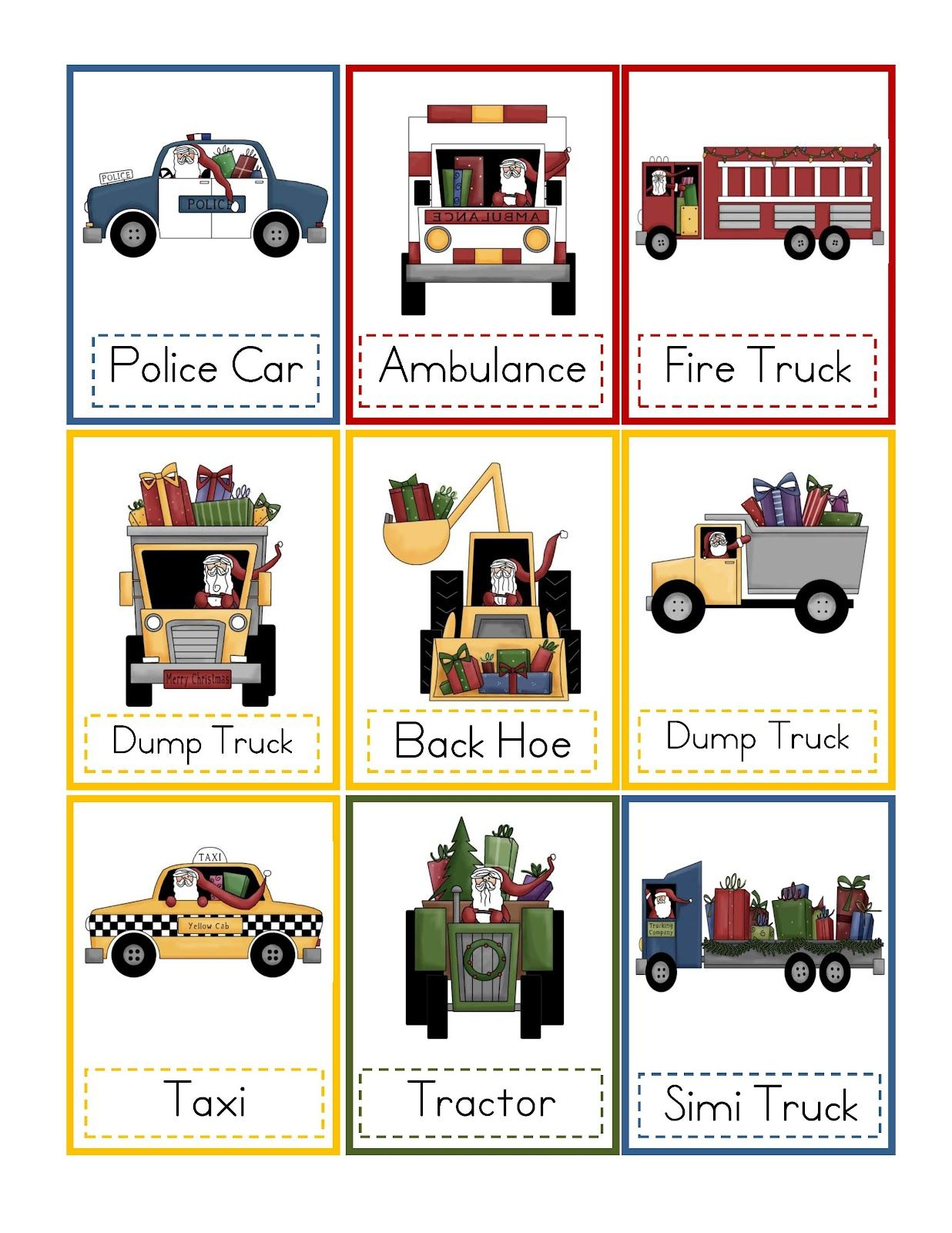 Santa Transportation Printable