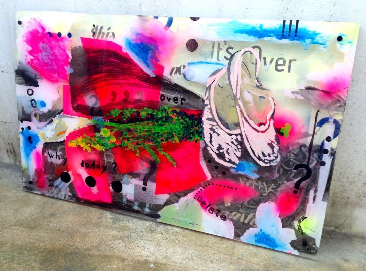 ARTFINDER: This is not Love. by Eduardo Bessa - This is not Love.  Painted Plexiglass over painted wood board.
