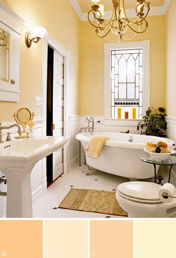 a. Benjamin Moore marmalade b. Benjamin Moore creamy beige ...