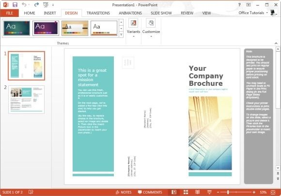 Widescreen PowerPoint Template for Making Family Trees Word - powerpoint brochure template