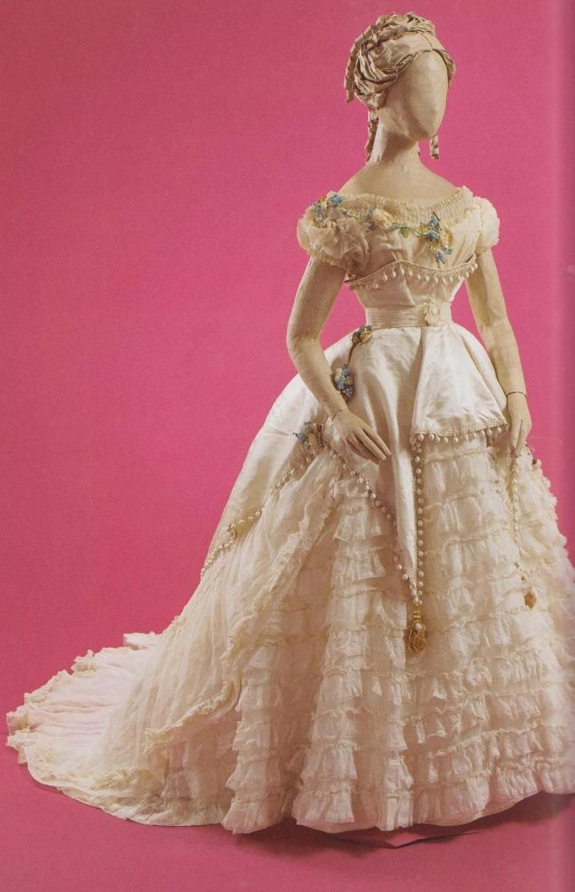 Empress eugenieus ball gown by worth victorian fashion