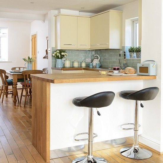 Kitchen Worktops Ideas: Yellow And Green Decorating Ideas