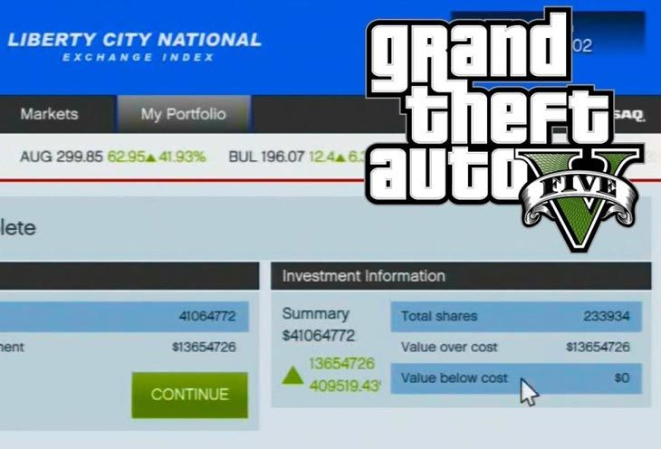 Gta V Final Heist Equals Billions With Stocks Investing Funny