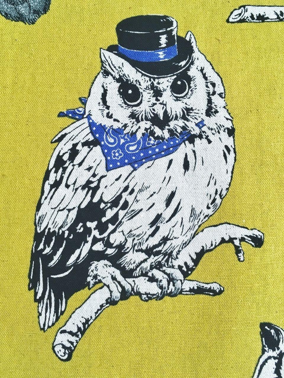 Owl Fabric Cushion Upholstery Craft Panel