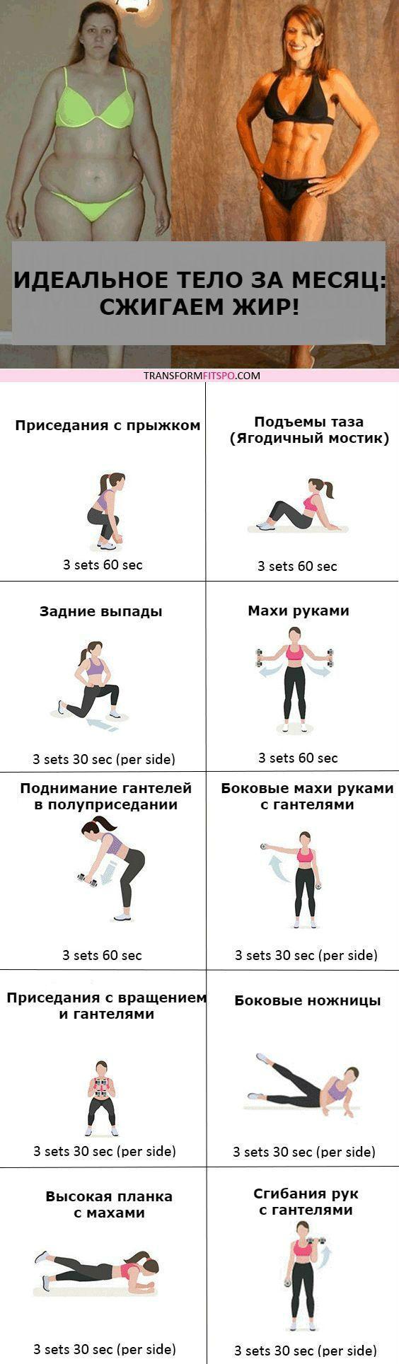 Похудеть За Месяц Упражнения В Картинках.