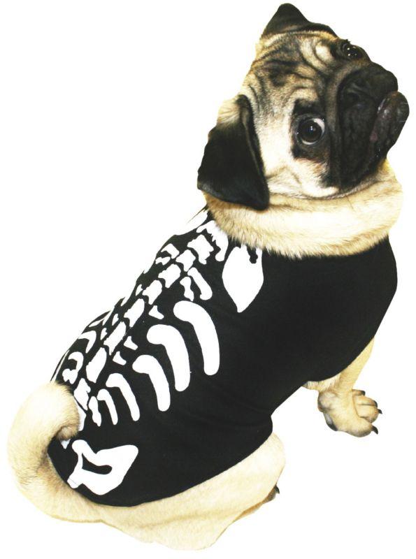 Glow In The Dark Skeleton Fancy Dress Dog Costume 4 For All My
