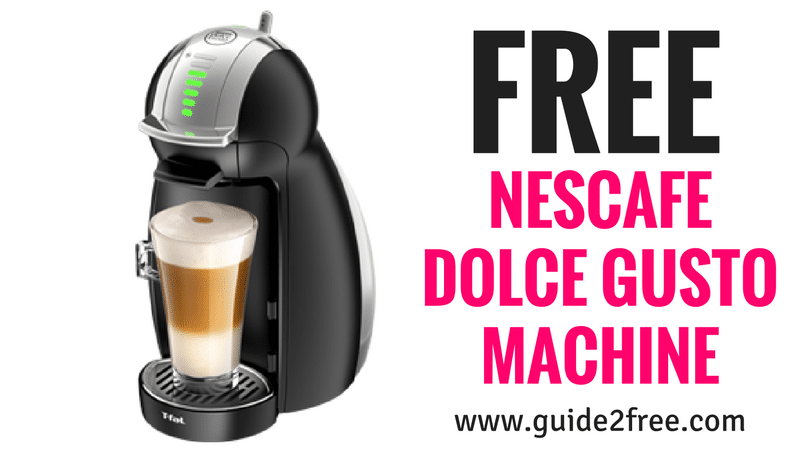 Apply to get a FREE NESCAFE Dolce Gusto Machine from Crowdtap!!     Love coffee? How about smooth, 100% Arabica coffee, bold espressos, velvety cappuccinos or decadent lattes? The NESCAFÉ®️️️ Dolce Gusto®️️️ makes it all, in one convenient countertop pod machine.  via @guide2free