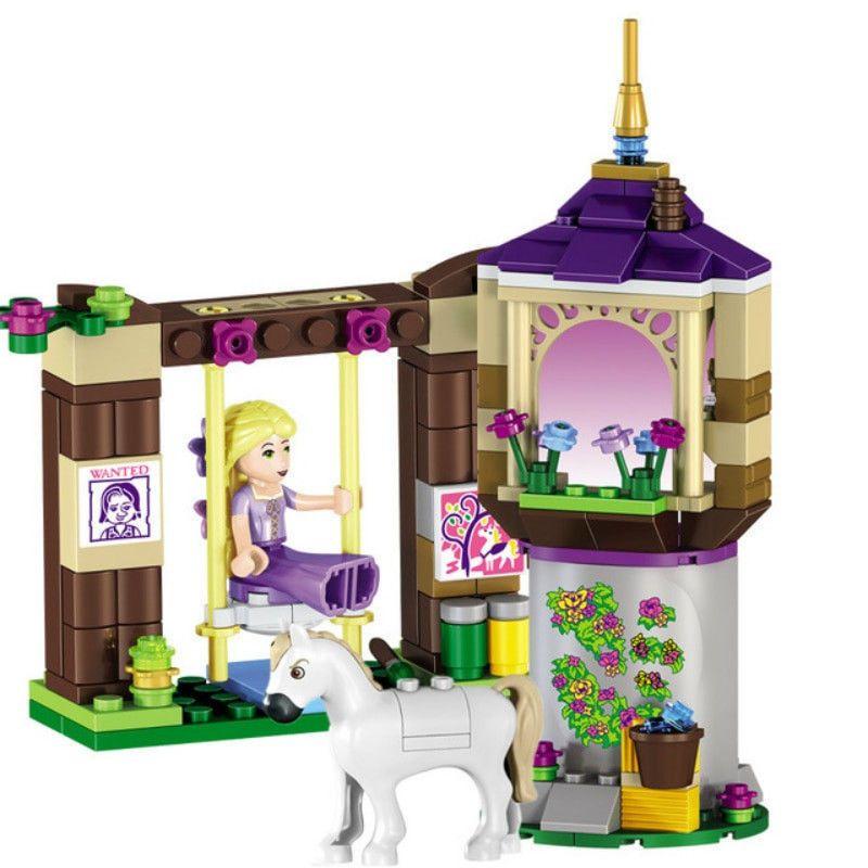 Princess Legoings Cinderella Elsa Anna Mermaid Ariel Castle Building Blocks Figu Baukästen & Konstruktion
