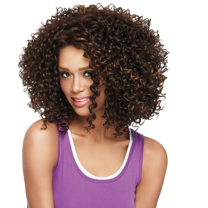Cheap price highlights black brown short curly wig for black women cheap price highlights black brown short curly wig for black women heat resistant synthetic afro kinky pmusecretfo Choice Image
