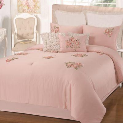 Chic Home Rossie 5 Piece Queen Comforter Set In Pink