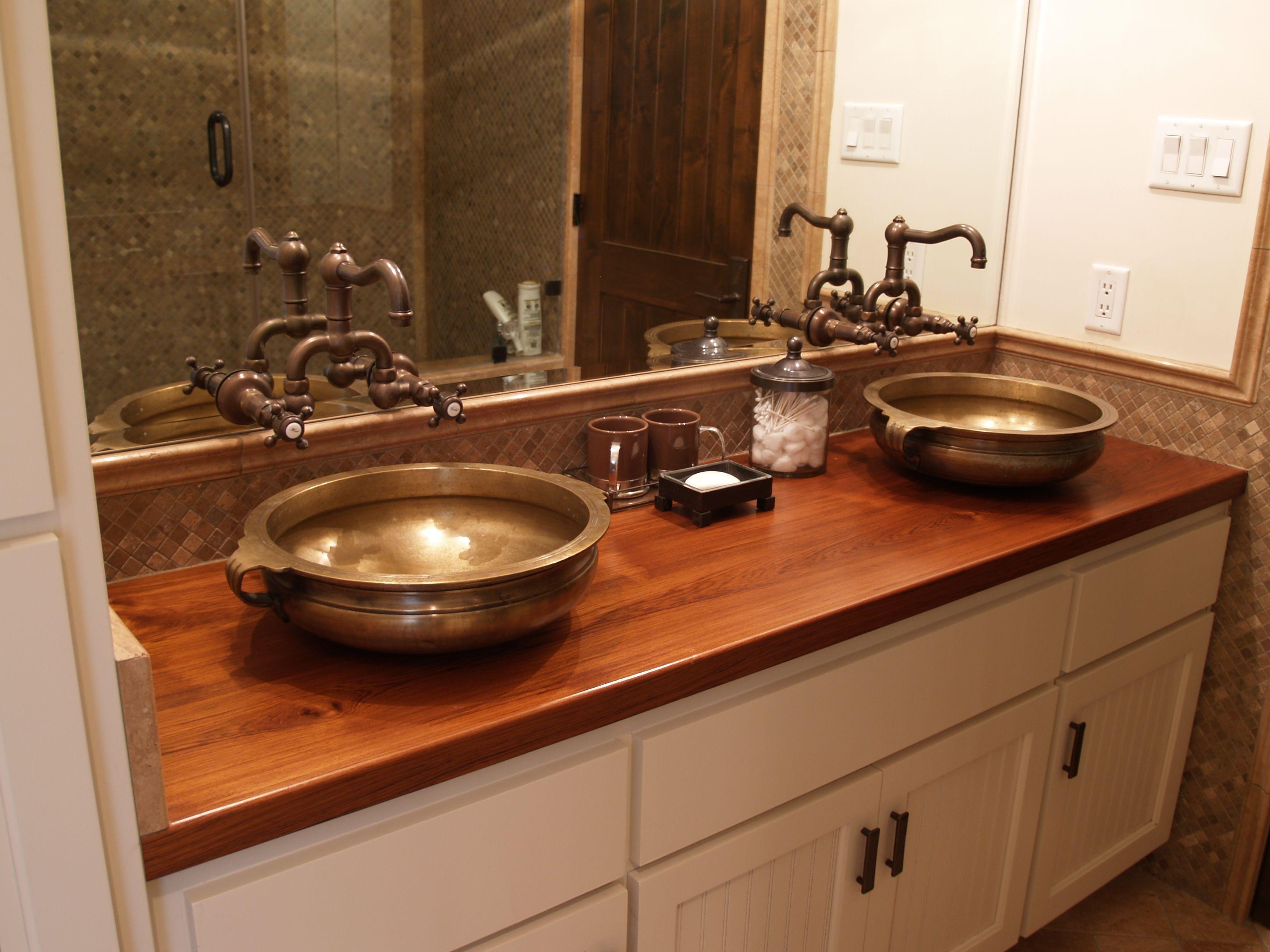 Teak Wood Countertop Photo Gallery Bathroom Countertops Wood