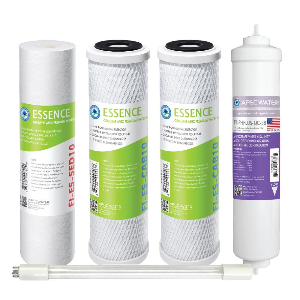 Apec Water Systems Essence Under Sink System Roes Phuv75 Replacement Water Filter Cartridge Pre Filter Set With Ph And Uv Stage 1 3 5 And 7 In 2020 Water Filter Cartridge Water Systems Reverse Osmosis