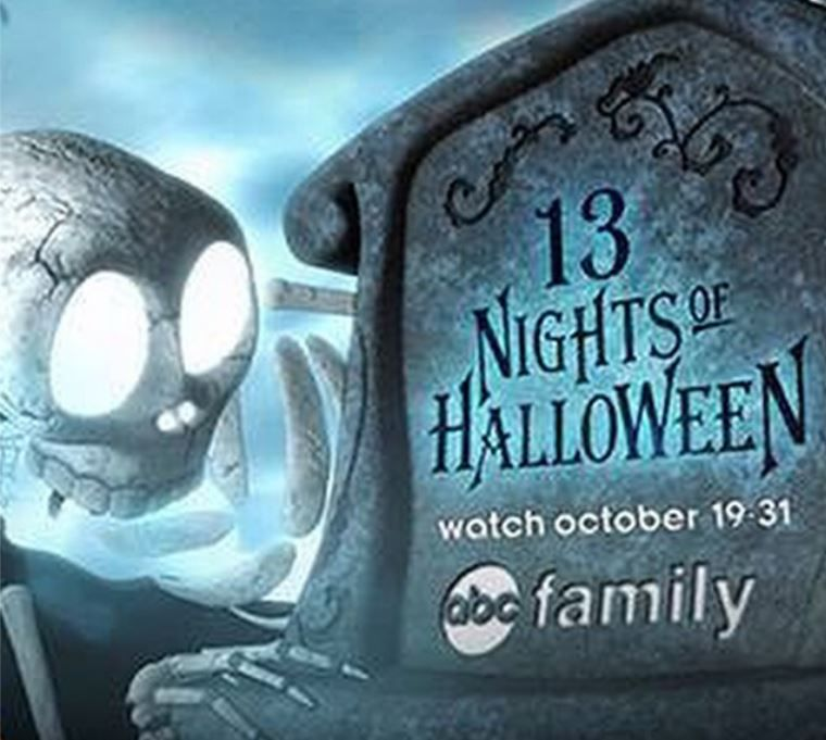 abc family13 nights of halloween tv schedule includes free printable to keep by tv
