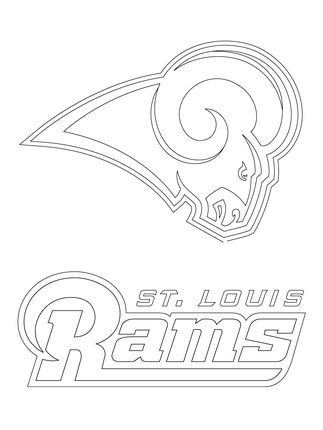 Click To See Printable Version Of St Louis Rams Logo Coloring Page