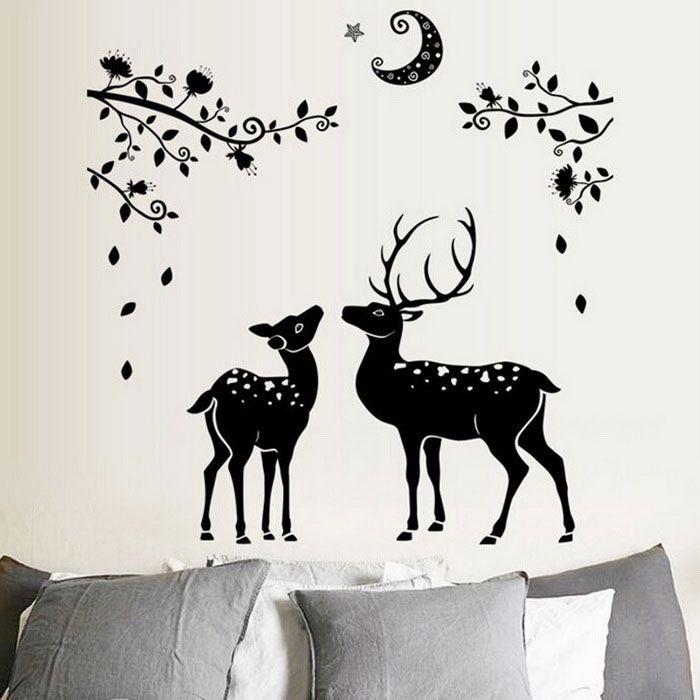 Removable DIY 3D Deer Halloween Decorative Wall Stickers