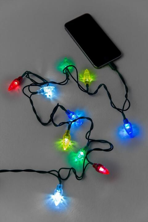 Holiday Lights Iphone Charging Cable Holiday Cheer Holiday Lights Charging Cable Gifts