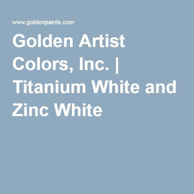 Golden Artist Colors Inc Titanium White And Zinc White Golden Artist Colors Paint Mixer Color