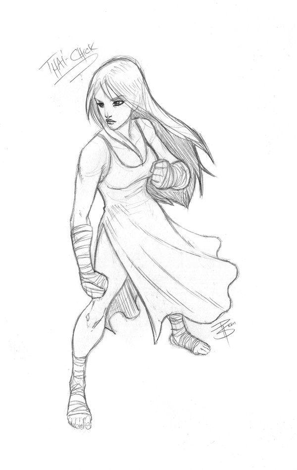 SketchCom: Muay Thai Girl by FooRay on deviantART | Drawing ...